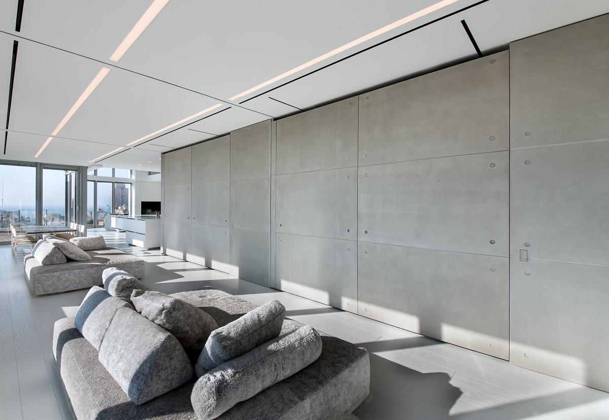 קיר מעוצב בסלון